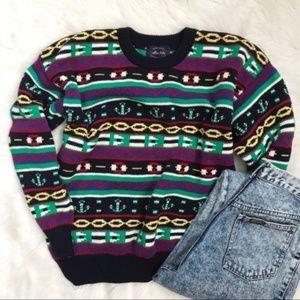 Vintage 90's  Graphic Cotton Crewneck Sweater